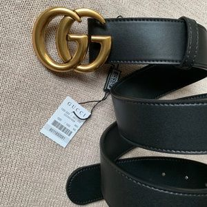 *Ñew Gucci Belt Âuthêntic Double G Marmot GG